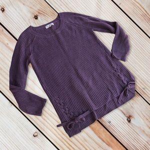 4/$20 Pink Rose XL purple sweater